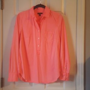 Neon colored long sleeve 100% cotton top